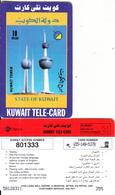 KUWAIT - Kuwait Tower, Sprint Prepaid Card KD 10(large CN At Left), Used - Kuwait