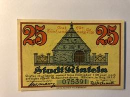 Allemagne Notgeld Rinteln 25 Pfennig - Collezioni