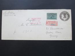 USA 1894 Registered Letter Ney York Exchange - Breslau Schlesien GA Umschlag Mit Kolumbus Nr. 75 Zusatzfrankatur! - 1847-99 Emissions Générales