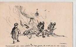 Illustrateur POULBOT: Champs De Bataille Heureusement Que Mon Paletot Est Trop Grand, Ils N'ont Pas Vu Mes Mains N° 16 - Humoristiques