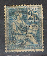 (1F 436) FRANCE // YVERT 118  MOUCHON // PERFORE L P // 1900-01 - Francia