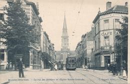 CPA - Belgique - Brussels - Bruxelles - Etterbeek - Rue Des Rentiers Et L'Eglise Sainte-Gertrude - Etterbeek