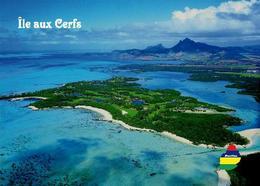 Mauritius Ile Aux Cerfs Aerial Island Aerial View New Postcard Maurice - Mauritius