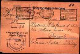 1971) Cartolina In Franchigia Dei Prigionieri Di Guerra Il 25-10-1918 Proveniente Dalla Germania - 1900-44 Vittorio Emanuele III