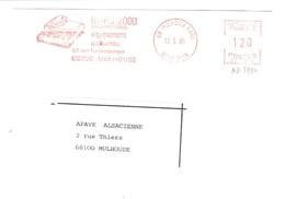 EMA FRANCE Machine à écrire SCHREIBMASCHINE BUREAU MECANOGRAPHIE BURO 2000 FURSTENBERGER MULHOUSE NORD 68 - Cultures
