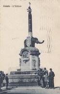 CATANIA-L'ELEFANTE-BELLA ANIMAZIONE-CARTOLINA VIAGGIATA IL 2-7-1923 - Catania