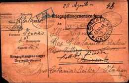 1972) Cartolina In Franchigia Dei Prigionieri Di Guerra Il 25-8-1918 Proveniente Dalla Germania - 1900-44 Vittorio Emanuele III
