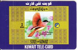 KUWAIT - Bird, Sylvia Africapilla, Sprint Prepaid Card KD 3(small CN At Left), Used - Kuwait