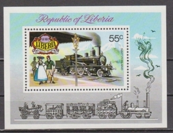 LIBERIA 1973 Airmail - Historical Railways 1895-1905. NUEVO - MNH ** - Trains