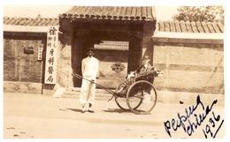"""""""PEIPING  CHINA 1936""""  FEMME DANS UN POUSS POUSS - Places"""