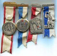 M037 LOT DE 4 MEDAILLES DE TIR SUISSE SHOOTING MEDALS SWITZERLAND 1963 1959 LUTERBACH - Médailles & Décorations