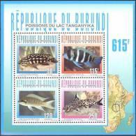 Burundi 1996 0CBn° Bloc 137 *** MNH Cote 11 Euro Vissen Poissons Fish - Burundi