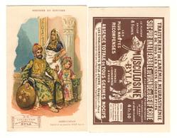 CHROMO HISTOIRE DU COSTUME ...HINDOUSTAN...NABAB ET SA FAMILLE.....MUSCULOSINE BYLA - Chromos