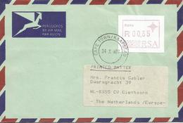 South Africa RSA 1987 Cape Town Meter P004 ATM EMA FRAMA Cover Taxed Aland - Frankeervignetten (Frama)