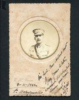 MILITAR Em UNIFORME Oficial Infantaria (?). FOTOGRAFIA Antiga De E.H.CARON Boulogne Sur Mer. Old Real Photo - Photos