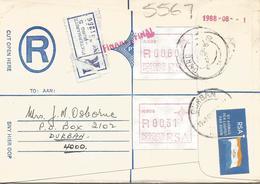 South Africa RSA 1988 Pietermaritzburg Meter P008 ATM EMA FRAMA Registered Cover - Frankeervignetten (Frama)
