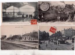 1 Lot De 15 Cartes Trains Gares Tramways - Cartes Postales
