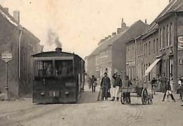 Cuerne - Tramstatie - Dorp (top Animatie, Stoomtram Tramway, Tram Statie Attelage Chien...zie Zoom) - Beersel