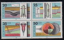 DDR 1980 MiNr. 2557/ 2560  ** / Mnh ;  Geophysik - Geologie