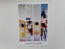 """CHANEL    """"  Les Eaux De CHANEL  """"  Carte Invitation  ***  2 Scans   """"  !! - Modernas (desde 1961)"""