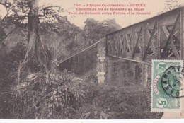 2523128Afrique Occidentale,  Guinée Chemin De Fer Konakry Au Niger Pont Du Botocoli Entre Fofota Et La Kolenté. - Guinea