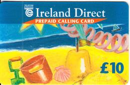 IRELAND - Ireland Direct, Telecom Eireann International Calling Card 10 Pounds, Used - Ireland
