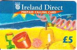 IRELAND - Ireland Direct, Telecom Eireann International Calling Card 5 Pounds, Used - Ireland