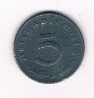 5 PFENNIG 1941 J DUITSLAND /4065/ - [ 4] 1933-1945 : Troisième Reich