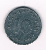10 PFENNIG 1941 D DUITSLAND /4066/ - 10 Reichspfennig