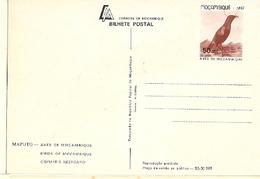 Mozambique ** & Postal Stationery, Birds From Moçambique, Nectarinia Neergardi, Cinnyris Neergaard, Maputo 1987 (7772) - Mozambico