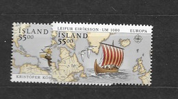 1992 MNH Iceland, Stamps From Block 13 - 1944-... Republik