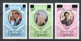 Uganda 1981. Yvert 258-60 ** MNH. - Uganda (1962-...)