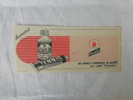 Buvard Publicitaire Ancien Flembo, Tennis, Chaussures,agnoline Pour Cuirs Blancs - Shoes