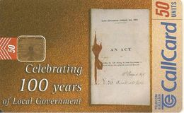 CARTE-PUCE-IRELANDE-1999-CELEBRATION 100 ANS GOUVERNEMENT-BE - Irlande