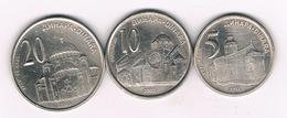 5+10+20 DINAR 2003 SERVIE /4079/ - Serbie