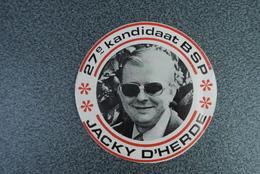 Aalst Carnaval Sticker Jacky D'herde Kandidaat Bsp - Autocollants