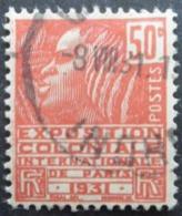 FranceN°272 EXPOSITION COLONIALE INTERNATIONALE DE PARIS 1931 Oblitéré - Expositions Universelles