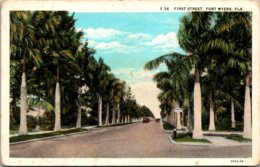 Florida Fort Myers First Street Curteich - Fort Myers