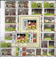 FIFA Fußball 1934 Tchad 309/0,Bl.9,100-500F+4-Blocks ** 90€ Championat Voetball S/s Soccer M/s Sheetlet Bf Football - Coupe Du Monde