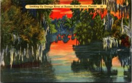 Florida Fort Myers Looking Up Orange River At Sunset - Fort Myers