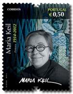 Portugal  ** & Values Of Portuguese Culture, Maria Kell, Painter 2014 (6546) - 1910 - ... Repubblica