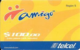 CARTE-PREPAYEE-MEXIQUE-TELCEL 100$-AMIGO-TBE-RARE - Mexique
