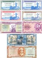 US Military Payment Certidicates 8 Note Set Series 681 COPY - Military Payment Certificates (1946-1973)