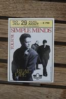 Simple Minds 1991 Sticker Tour ' Real Life ' Zelfklever - Photos
