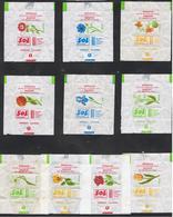 EMBALLAGES DE SUCRE-FRANCE-LES FLEURS-F 4-TYPE 2- - Sugars
