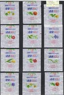 EMBALLAGES DE SUCRE-FRANCE-LES FLEURS-F 4 A F 6-11ème EMISSION- - Sugars