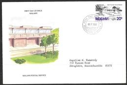 1980 Malawi First Day Cover - Mail Transfer Hut, Walala - Malawi (1964-...)