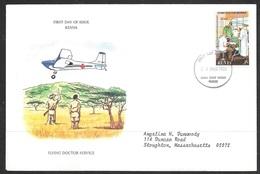 1980 Kenya First Day Cover - Flying Doctor Service - Kenya (1963-...)