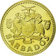 Monnaie, Barbados, 5 Cents, 1975, Franklin Mint, FDC, Laiton, KM:11 - Barbados (Barbuda)