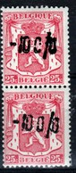 Belgique - Paire De Timbres De 1946 -10% COB 724Q Xx - 1946 -10%